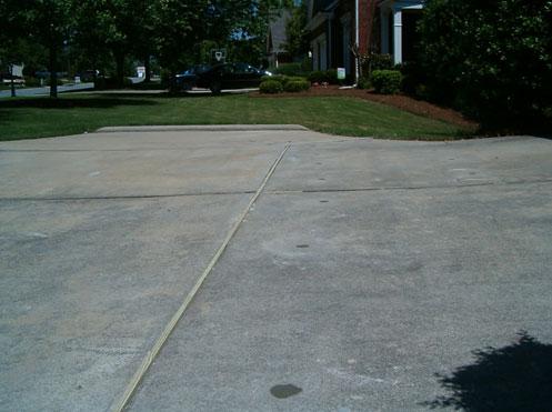 Driveway lifting repair